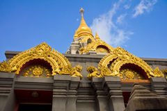 Golden stupa royalty free stock images