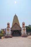 Golden stupa Bodhgaya in Kanchanaburi Royalty Free Stock Photos