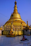 Golden stupa of the Botataung Pagoda Stock Photos