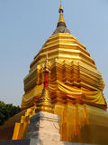 Golden stupa in a Buddhist Temple in Thailand Stock Images