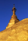 Golden stupa Burma Kyaiktiyo Mountain Stock Photo