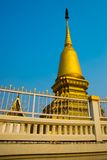 Golden stupa the city of Nakhon Ratchasima. Thailand. Royalty Free Stock Photography