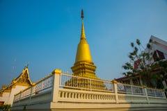 Golden stupa the city of Nakhon Ratchasima. Thailand. Stock Photos