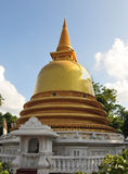 Golden stupa at Dambulla Cave Temples Royalty Free Stock Image