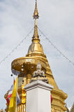 Golden stupa at Doi Kham Royalty Free Stock Photos