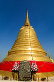 Golden stupa at Golden Mount in Bangkok Stock Photography