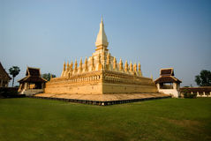 Golden stupa  at Laos 1. Royalty Free Stock Images