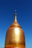 Golden stupa at the pagoda in Bagan, Myanmar Royalty Free Stock Photography