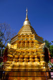 The golden stupa in PUN ON, chiang mai Stock Image