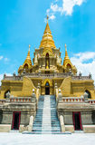 Golden stupa relegion of thailand building Stock Images