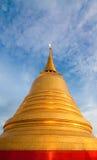 Golden stupa religious icon Stock Images