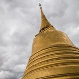 Golden Stupa temple in Bangkok Royalty Free Stock Images