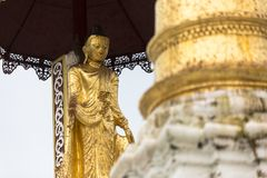 Golden stupa traditional temple architecture at shwedagon pagoda Yangon Myanmar south east asia stock photography