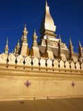 Golden stupa Vientiane Laos. Pha That Luang (the Great Sacred Stupa) in vientiane, the most important religious and national building in laos stock photos