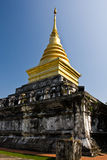 Golden stupa in Wat Chang Khum Stock Photo