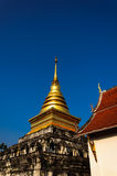 Golden stupa in Wat Nan,Thailand Royalty Free Stock Photos