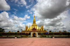 Golden Stupa. In Wat Pha-That Luang, Vientiane, Laos Stock Images