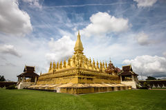 Golden Stupa. In Wat Pha-That Luang, Vientiane, Laos stock photography