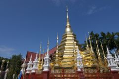 Golden Stupa of Wat Phan Tao stock photo