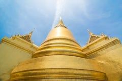 Golden Stupa, Wat Phra Kaew in Bangkok of Thailand. The golden stupa at the emerald buddha temple - Thailand Royalty Free Stock Photos