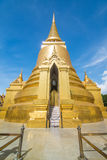 Golden Stupa, Wat Phra Kaew in Bangkok of Thailand. The golden stupa at the emerald buddha temple - Thailand Royalty Free Stock Photography