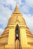 Golden stupa. In Wat Phra Kaew, the famous tourist destinations in Thailand Stock Photography
