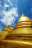 Golden Stupa at Wat Phra Kaew in Thailand Royalty Free Stock Photography