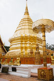 Golden Stupa in Wat Phrathat temple on Doi Suthep, Chiang Mai, T Royalty Free Stock Images