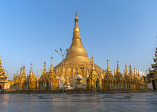 Golden stupas at the Shwedagon Stock Photos