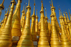 Golden Stupas Stock Photo