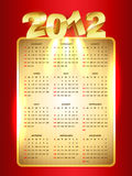 Golden style new year Stock Image
