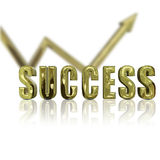 Golden Success Stock Image