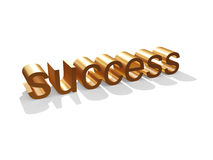 Golden Success. 3d Golden Success Background Royalty Free Stock Photography