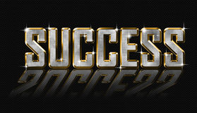 Golden success letters Royalty Free Stock Photos