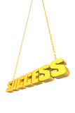 Golden success sign Stock Photo