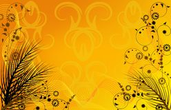 Golden summer background Stock Photography
