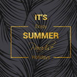 Golden summer lettering Royalty Free Stock Photography
