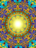 Golden sun. Digitally created mandala suitable as background and inspirational for meditative purposes Royalty Free Stock Image