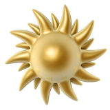 Golden sun Stock Photos