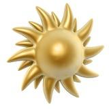 Golden sun Stock Images