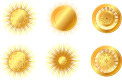 Golden sun Stock Image