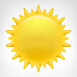Golden sun clip art vector isolated Royalty Free Stock Photos