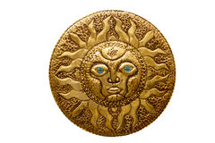 Golden sun handcraft from Mediterranean isolated Royalty Free Stock Image