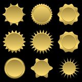 Golden sun icons Stock Photography