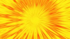 A golden sun shinning hot. Animation of abstraction light tunnel.
