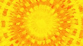 A golden sun shinning hot. Animation of abstraction light tunnel. Abstract motion background with rays of yellow and red light. Fiery circles. Quick action stock video footage