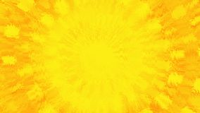A golden sun shinning hot. Animation of abstraction light tunnel. Abstract motion background with rays of yellow and red light. Fiery circles. Quick action stock footage