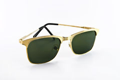 Golden sunglasses Royalty Free Stock Image