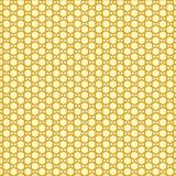 Golden sunny honeycomb pattern. Hexagonal vector design. Trendy polygon texture. Stylish geometric background for your design royalty free illustration