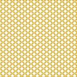 Golden sunny honeycomb pattern. Hexagonal vector design. Trendy polygon texture. Stylish geometric background for your design stock illustration